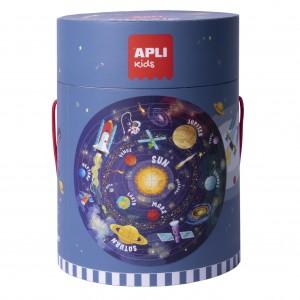 APLI Kids - Puzzle okrągłe w tubie - Układ słoneczny (Z3207)