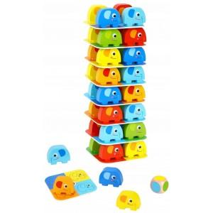 Tooky Toy - Słonik na słoniku - Gra zręcznościowa (Z3240)
