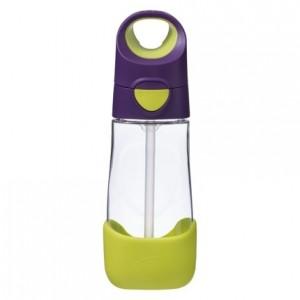 B.Box - butelka tritanowa ze słomką 450ml - Passion Splash - fioletowo-zielona (Z3262)