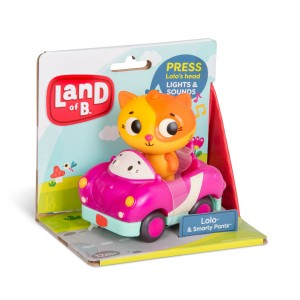 B.Toys - miękkie autko sensoryczne z wesołym pasażerem - Land of B. (Z3297)