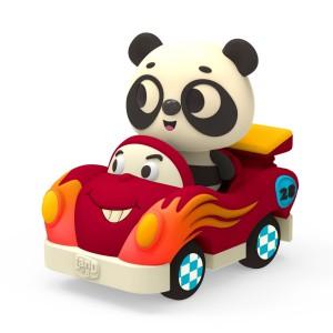 B.Toys - miękkie autko sensoryczne z wesołym pasażerem - Land of B. (Z3299)