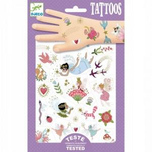Djeco - tatuaże dla dzieci - Przyjaciele wróżki - metaliczne (Z3301)