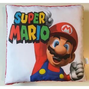 Poduszka Super Mario + minky czerwony (Z3390)