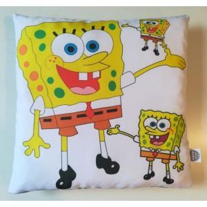 Poduszka SpongeBob Kanciastoporty + minky szary (Z3392)