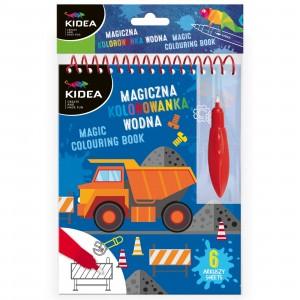 Kidea - Magiczna wielorazowa kolorowanka wodna - Pojazdy (Z3412)