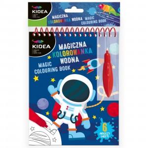 Kidea - Magiczna wielorazowa kolorowanka wodna - Kosmos (Z3413)
