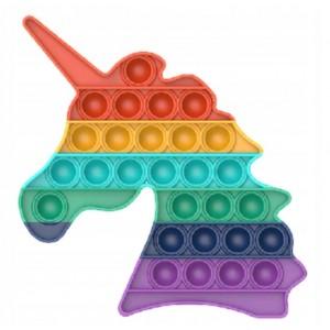 Push Pop It - zabawka sensoryczna antystresowa - jednorożec tęczowy (Z3447)