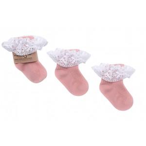 Mama's Feet - Skarpetki Vintage Love 0-1 lat - Brudny róż (Z3487)