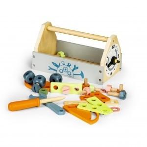 ECOTOYS - drewniana skrzynka z narzędziami (Z3534)