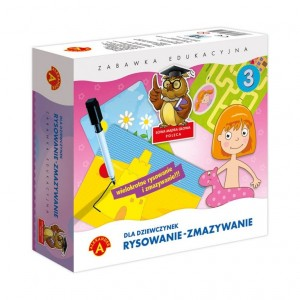Alexander - Rysowanie-Zmazywanie - zabawka edukacyjna - dla dziewczynek (Z3549)