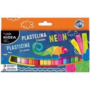 KIDEA - Plastelina 24 kolory - NEON (Z3556)