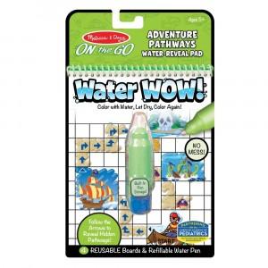 """Melissa&Doug - Water Wow Wodna kolorowanka wielokrotnego użytku """"Znajdź drogę"""" - Przygoda (Z3574)"""