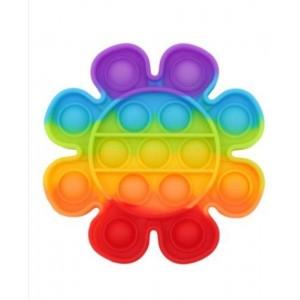 Push Pop It - zabawka sensoryczna antystresowa - kwiatek tęczowy (Z3587)