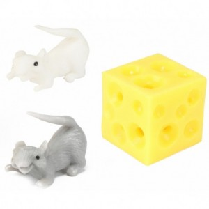 Rozciągliwy ser z myszkami - białą i szarą (Z3591)