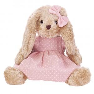 BEPPE -Królik Rosalie w różowej sukience 30cm (Z3846)