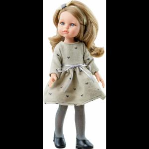 Paola Reina - Hiszpańska Lalka Carla w sukience w serduszka 04463 (Z3868)
