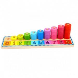 Tooky Toy - Układanka edukacyjna - nauka liczenia i kolorów (Z3876)