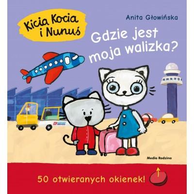 Kicia Kocia i Nunuś - Gdzie jest moja walizka? z okienkami (Z2279)
