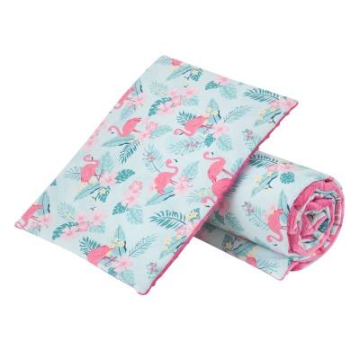 Komplet minky flamingi/ minky różowe GUFO design (Z1470)