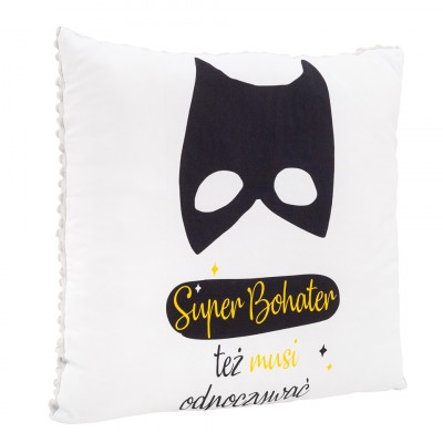 Poduszka Superbohater / minky jasny szary (Z1715)