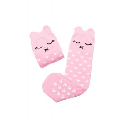 Podkolanówki różowa Lilka Mama's Feet 0-2 lat (Z1779)