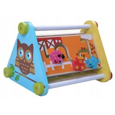 ECOTOYS - drewniana zabawka edukacyjna 5w1 (Z1855)
