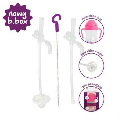 B.Box - zestaw zapasowych słomek i szczoteczka NOWY (Z2090)