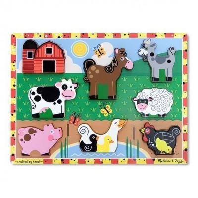 Melissa&Doug - Drewniana układanka puzzle 3D Farma (Z2234)