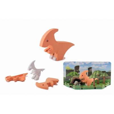 HALFTOYS - dinozaur magnetyczny 3D - Parazaurlof (Z3029)